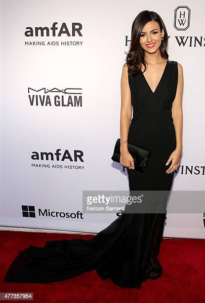 Victoria Justice attends the 2015 amfAR Inspiration Gala New York at Spring Studios on June 16 2015 in New York City