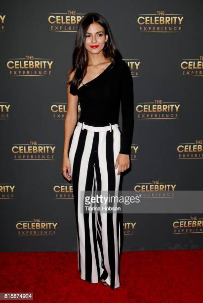 Victoria Justice attends The Celebrity Experience at Hilton Universal Hotel on July 16 2017 in Los Angeles California