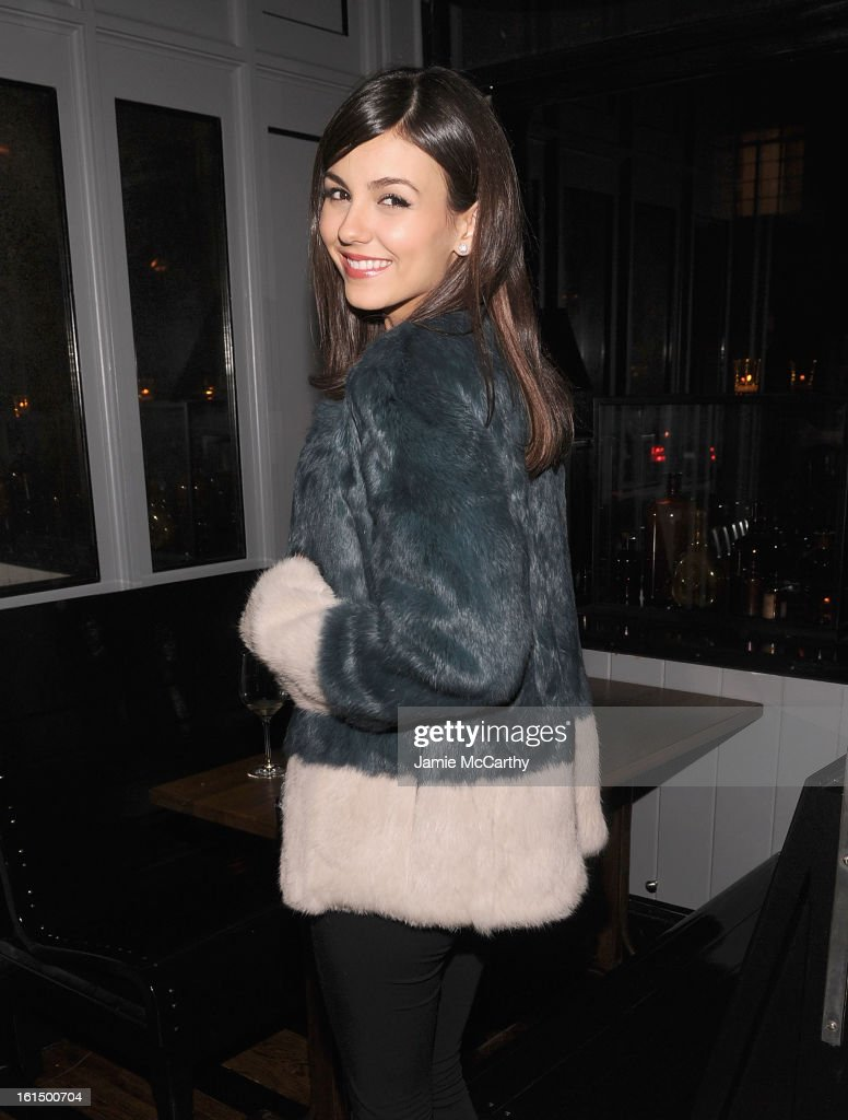 Victoria Justice attends The Cinema Society And Dior Beauty Presents A Screening Of 'Beautiful Creatures' After Party at Cole's Greenwich Village on February 11, 2013 in New York City.