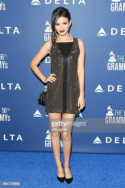 Victoria Justice attends the Delta Air Lines 2014 GRAMMY Weekend Private Reception And Performance With Lorde held at Soho House on January 23 2014...