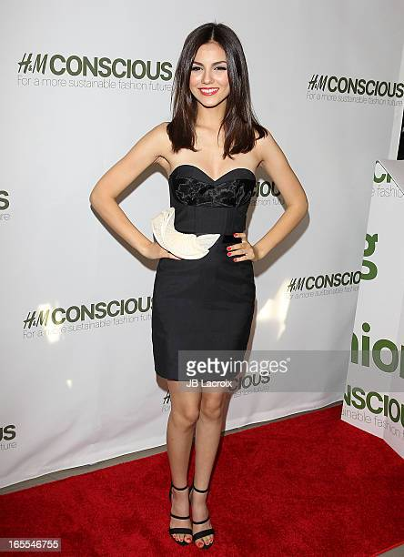 Victoria Justice attends the HM launch party for exclusive Conscious Collection at HM Sunset Strip on April 4 2013 in West Hollywood California