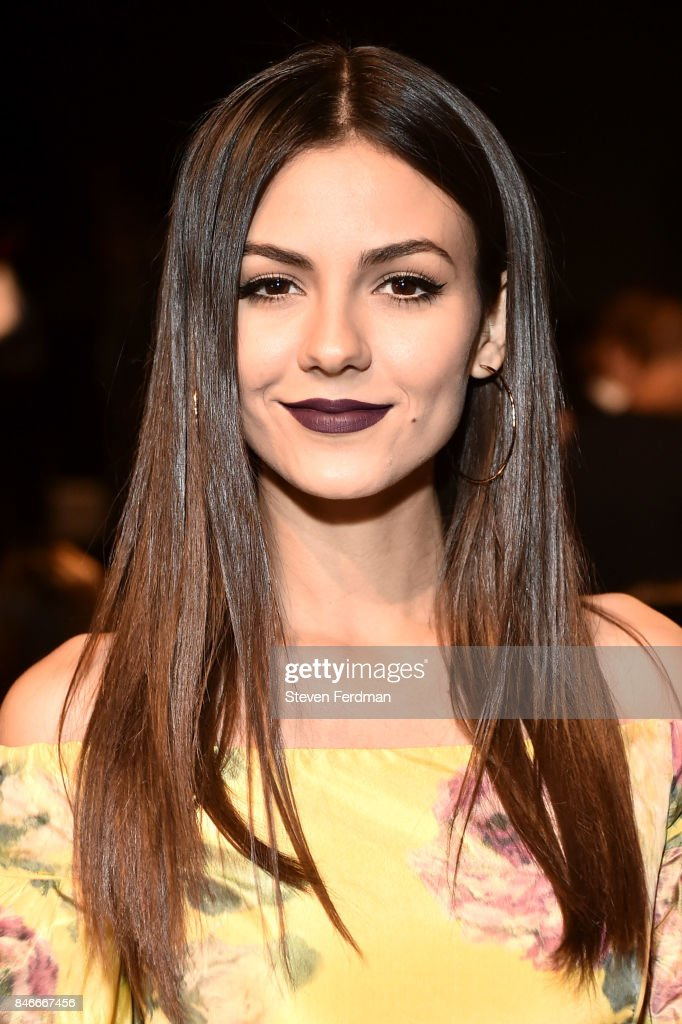 Victoria Justice attends the Marchesa fashion show during New York Fashion Week: at Gallery 1, Skylight Clarkson Sq on September 13, 2017 in New York City.