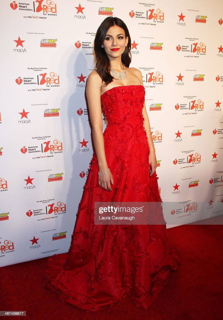 <a gi-track='captionPersonalityLinkClicked' href=/galleries/search?phrase=Victoria+Justice&family=editorial&specificpeople=569887 ng-click='$event.stopPropagation()'>Victoria Justice</a> attends The Red Dress Fashion Show during Fall 2014 Mercedes - Benz Fashion week on February 6, 2014 in New York City.