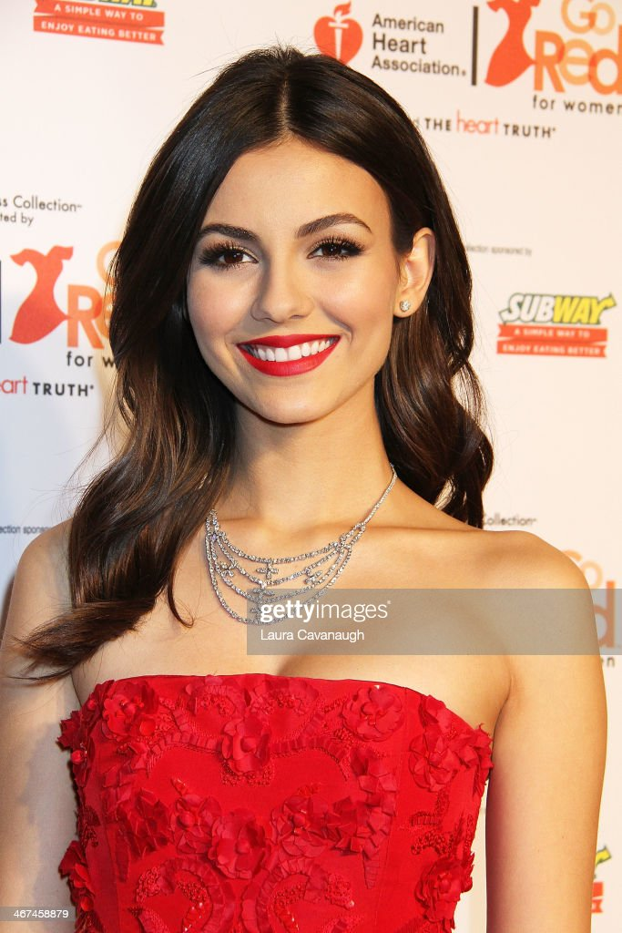 Victoria Justice attends The Red Dress Fashion Show during Fall 2014 Mercedes Benz Fashion week on February 6 2014 in New York City