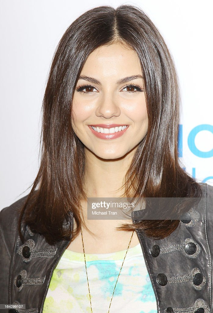Victoria Justice attends The Ryan Seacrest Foundation West Coast debut of new multi-media broadcast center 'Seacrest Studios' held at CHOC Children's Hospital on March 22, 2013 in Orange, California.