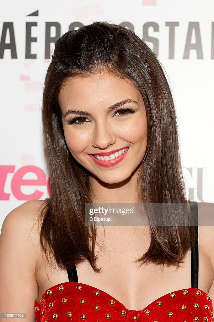 Victoria Justice attends the Teen Vogue 10th Anniversary and Chloe Grace Moretz Sweet 16 Celebration at Aeropostale Times Square on February 7, 2013 in New York City.