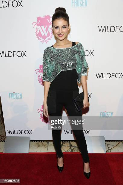 Victoria Justice attends the Wildfox presentation during Fall 2013 MercedesBenz Fashion Week at Capitale on February 6 2013 in New York City