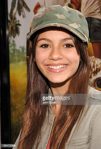 Victoria Justice during 'Hoot' Los Angeles Premiere Red Carpet at The Grove in Los Angeles California United States