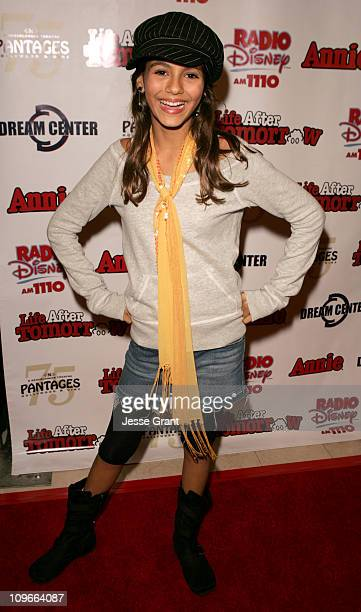 Victoria Justice during 'Kids Night' with Cast of 'Annie' Past Present Help Hurricane Katrina Orphans to Benefit the Dream Center LA at The Pantages...