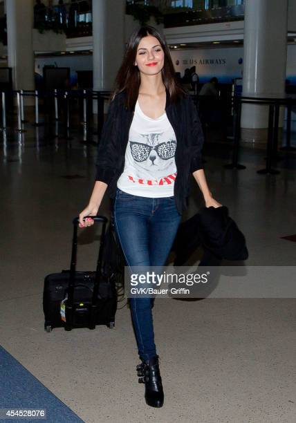 Victoria Justice is seen at LAX on September 02 2014 in Los Angeles California