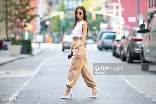 Victoria Justice is seen in Tribeca on September 14 2017 in New York City