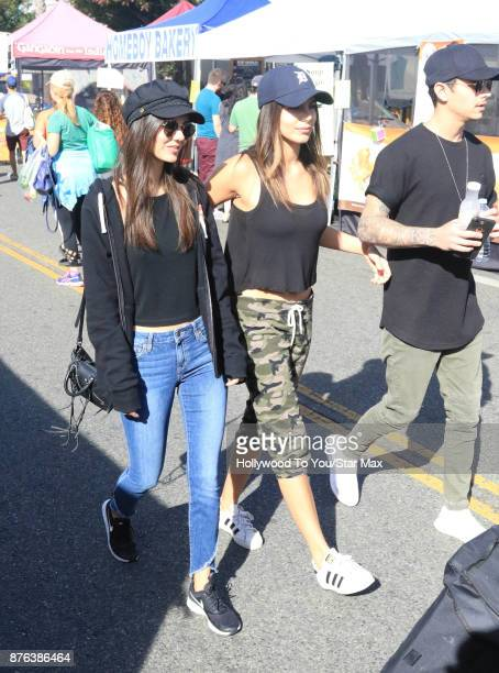Victoria Justice Madison Reed Pierson Fode are seen on November 19 2017 in Los Angeles CA