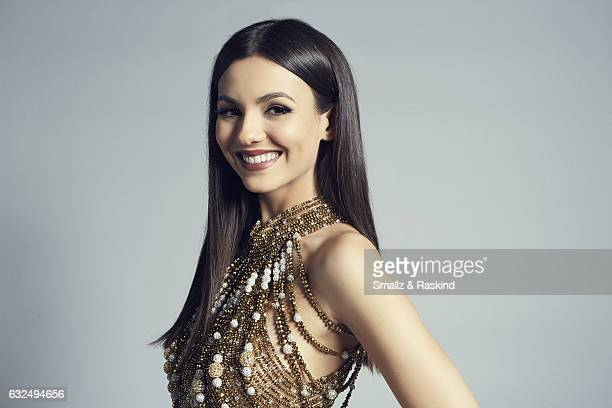 Victoria Justice poses for a portrait at the 2017 People's Choice Awards at the Microsoft Theater on January 18 2017 in Los Angeles California