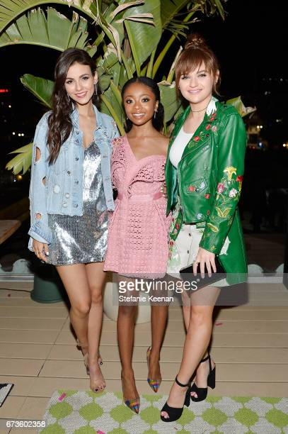 Victoria Justice Skai Jackson and Joey King attend harper x Harper's BAZAAR May Issue Event Hosted by The Stallone Sisters and Amanda Weiner Alagem...