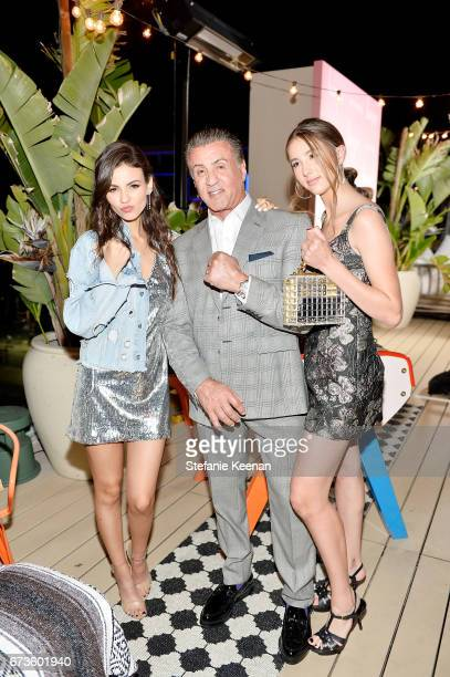 Victoria Justice Sylvester Stallone and Scarlet Stallone attend harper x Harper's BAZAAR May Issue Event Hosted by The Stallone Sisters and Amanda...