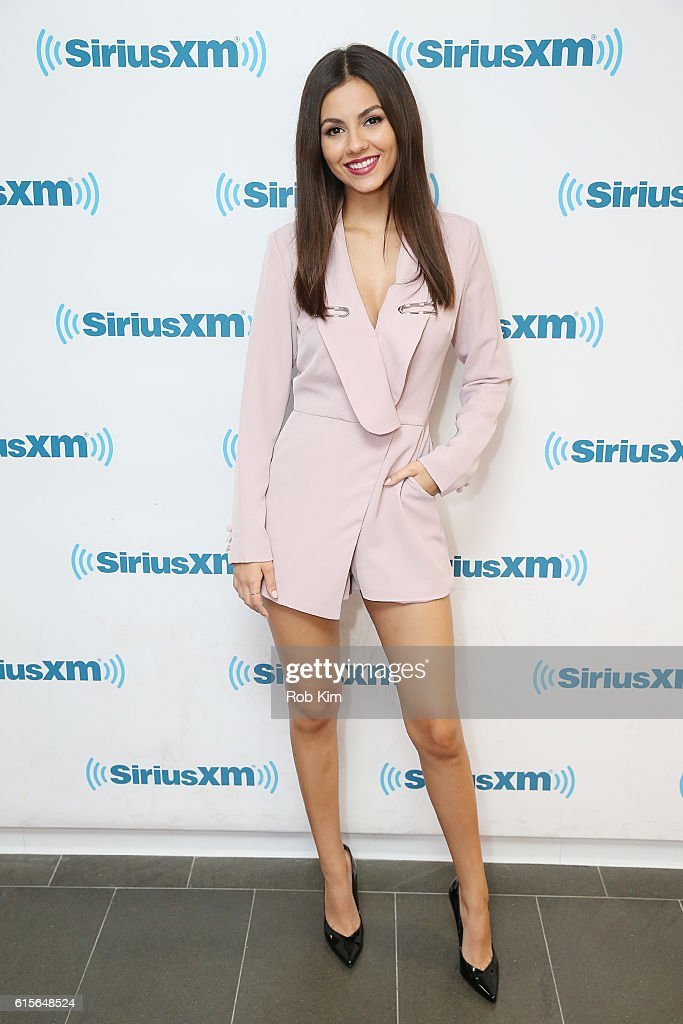 Victoria Justice visits at SiriusXM Studio on October 19, 2016 in New York City.