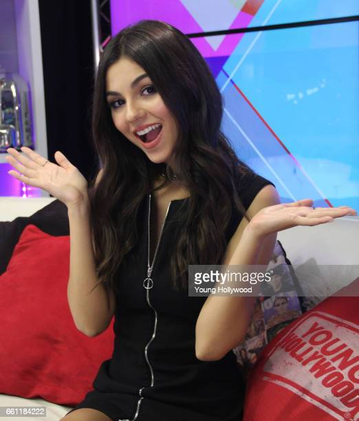 Victoria Justice visits the Young Hollywood Studio on March 30 2016 in Los Angeles California