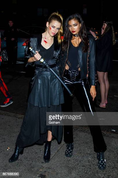 Victoria Lee and Kelly Gale are seen in Chelsea on October 28 2017 in New York City