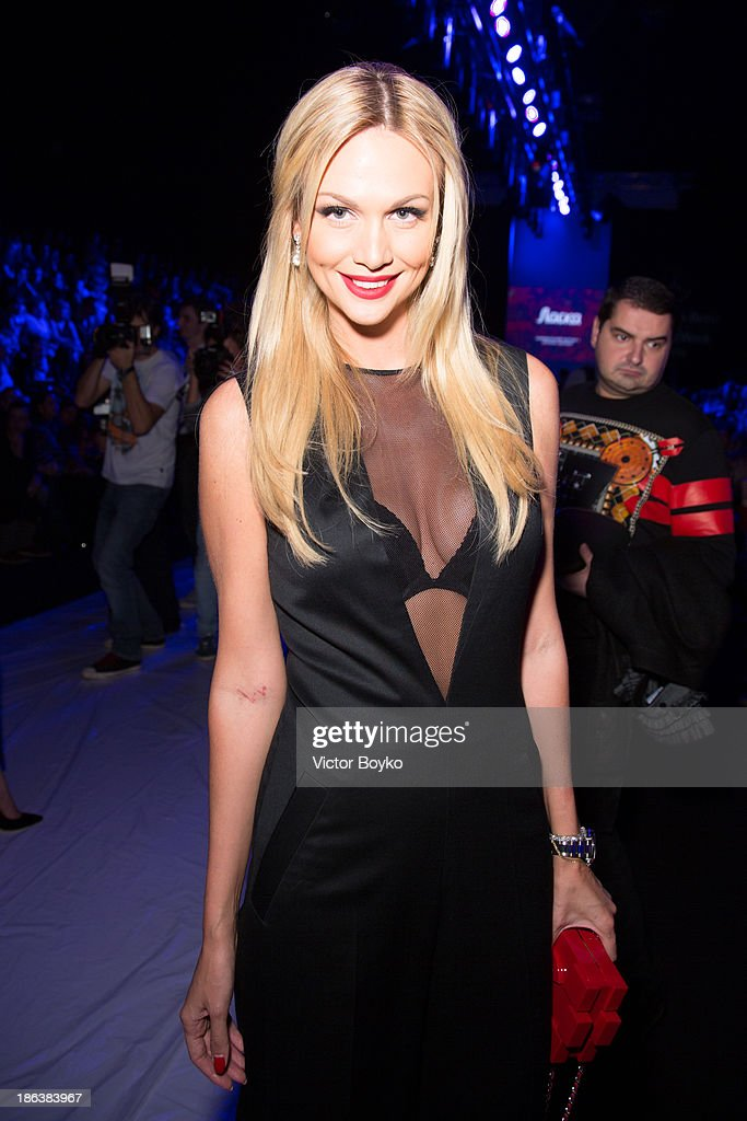 Victoria Lopyreva attends the Ruban show on day 6 of Mercedes-Benz Fashion Week S/S 14 on October 30, 2013 in Moscow, Russia.