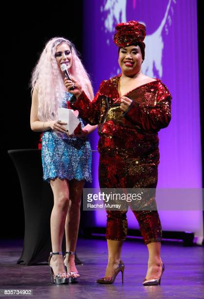 Victoria Lyn and Patrick Starrr at the 2017 NYX Professional Makeup FACE Awards at The Shrine Auditorium on August 19 2017 in Los Angeles California