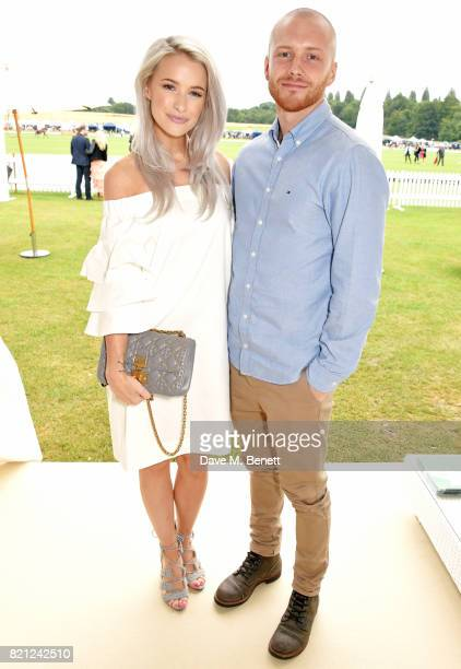 Victoria Magrath and Alex Harrison attend the JaegerLeCoultre Gold Cup Polo Final at Cowdray Park on July 23 2017 in Midhurst England