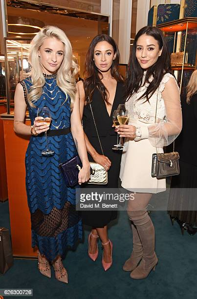 Victoria Magrath Danielle Peazer and Tamara Kalinic attend as Bulgari celebrates the opening of the Selfridges Pop Up ''Wishes Full Of Colour' on...