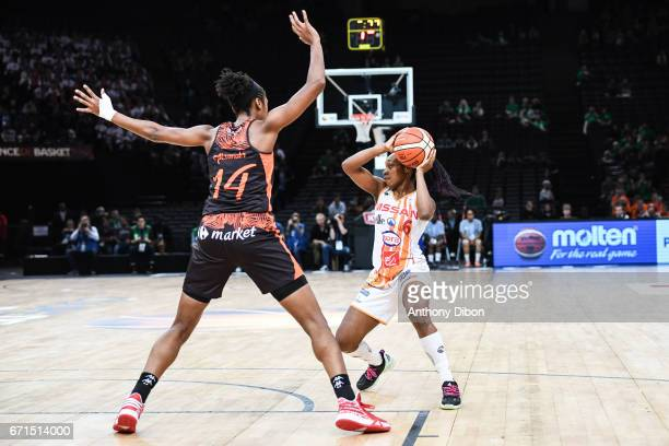 Victoria Majekodunmi of Charleville Mezieres during the women's Final of the French Cup between Charleville Mezieres and Bourges Basket at...