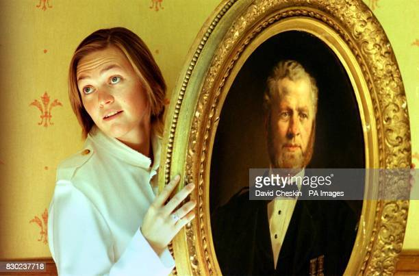 Victoria Major from Sotheby's displays a Royal commissioned portrait of Queen Victoria's manservant John Brown at the Gleneagles Hotel in Perthshire...