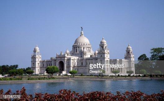 ビクトリア記念堂にインドのカルカッタに