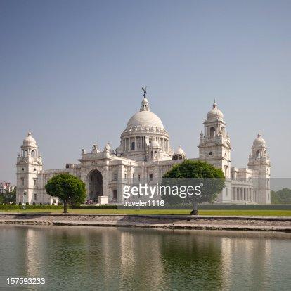 ビクトリア記念にインドのカルカッタに