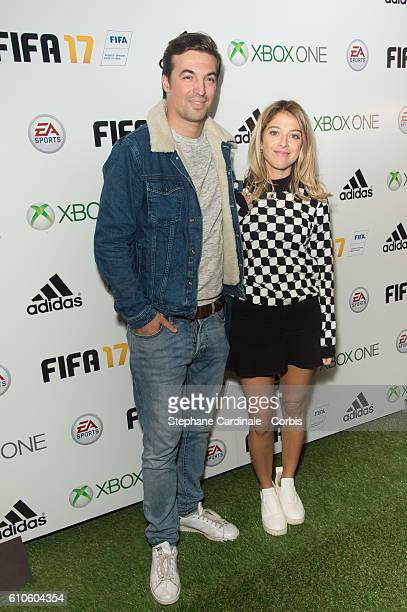 Victoria Monfort and guest attend the Fifa 17 Xperience Party at Le Cercle Cadet on September 26 2016 in Paris France