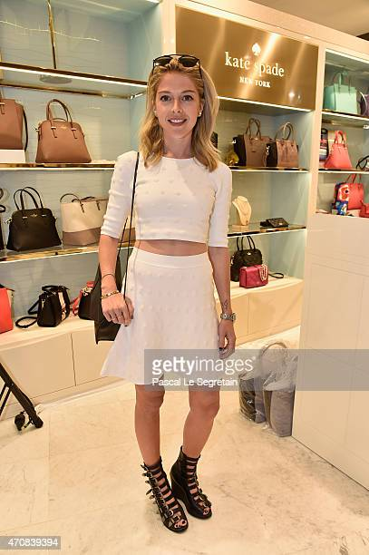 Victoria Monfort attends the Cocktail Kate Spade New York at BHV Store on April 23 2015 in Paris France