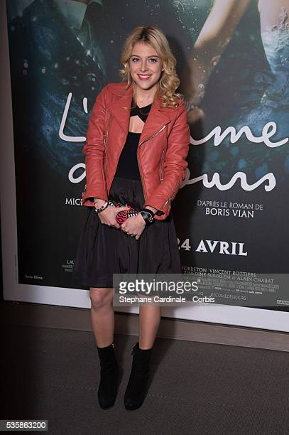 Victoria Monfort attends the 'L'Ecume Des Jours' Paris Premiere at Cinema UGC Normandie in Paris