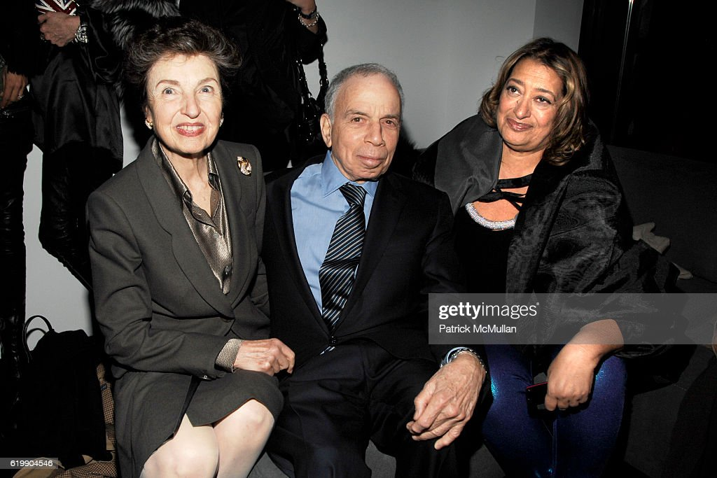 Victoria Newhouse, SI Newhouse and Zaha Hadid attend Opening Party for