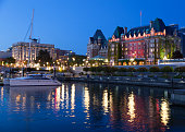 Victoria city lights at night (Canada).
