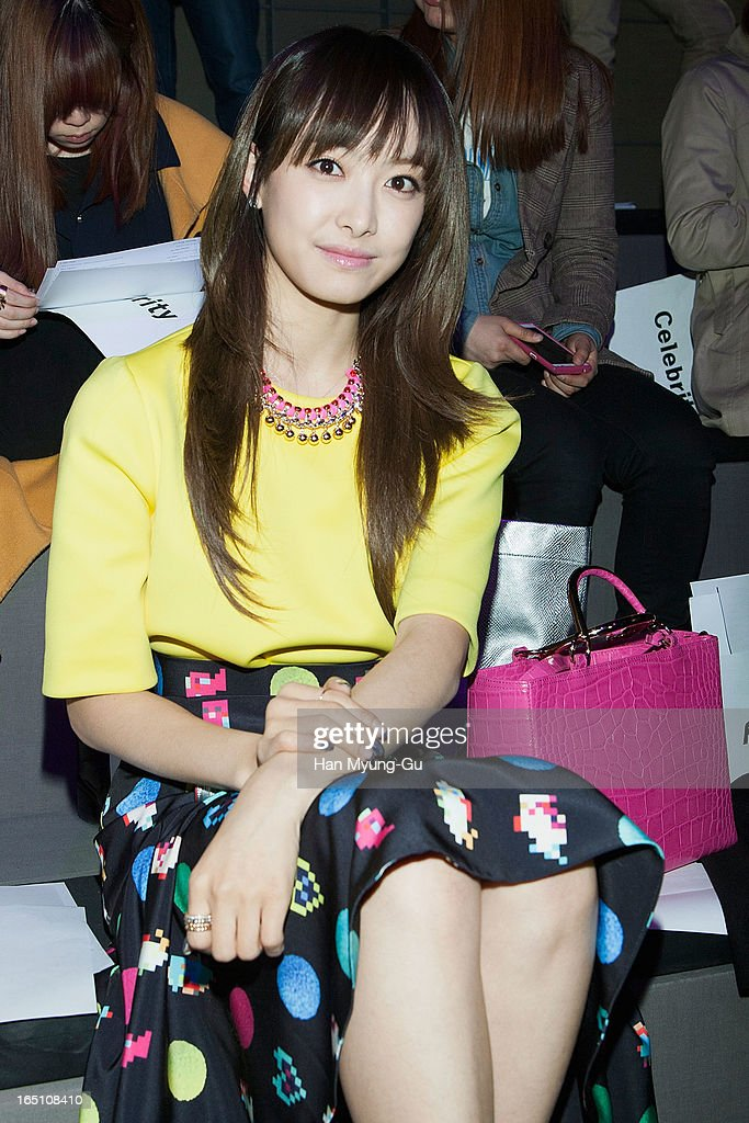 Victoria of girl group f(x) attends the 'Jardin De Chouette' Collection on March 29, 2013 in Seoul, South Korea.