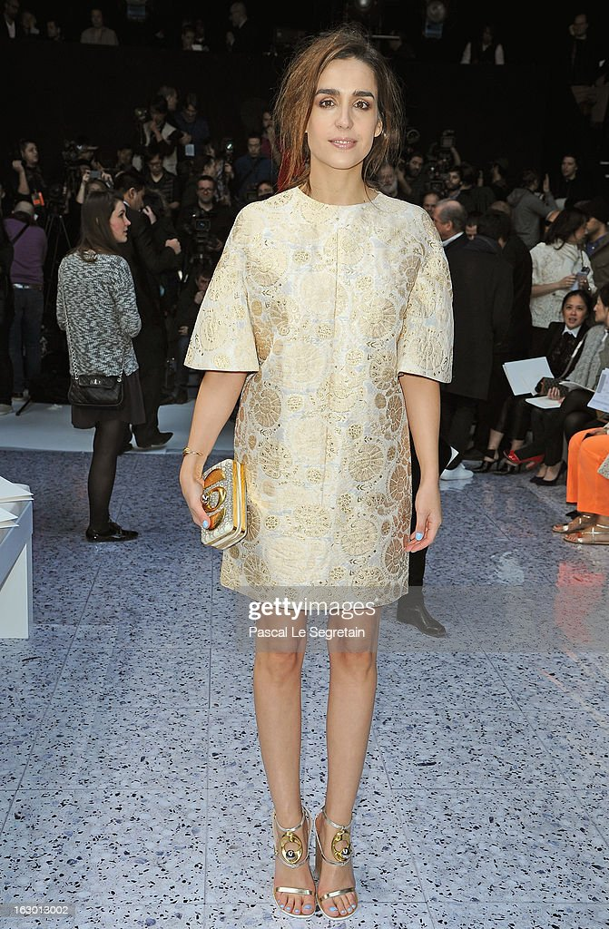Victoria Olloqui attends the Chloe Fall/Winter 2013 Ready-to-Wear show as part of Paris Fashion Week on March 3, 2013 in Paris, France.