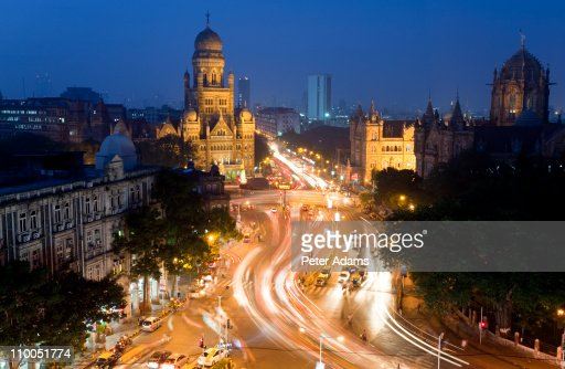 Victoria or Chhatrapati Shivaji terminus, Mumbai : Stock Photo
