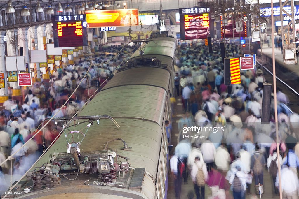 Victoria or Chhatrapati Shivaji Terminus, Mumbai : Stock Photo