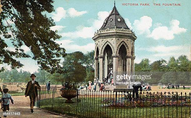 Victoria Park Bow London 1900 A view of the Lady Burdett Coutts drinking fountain erected in 1862