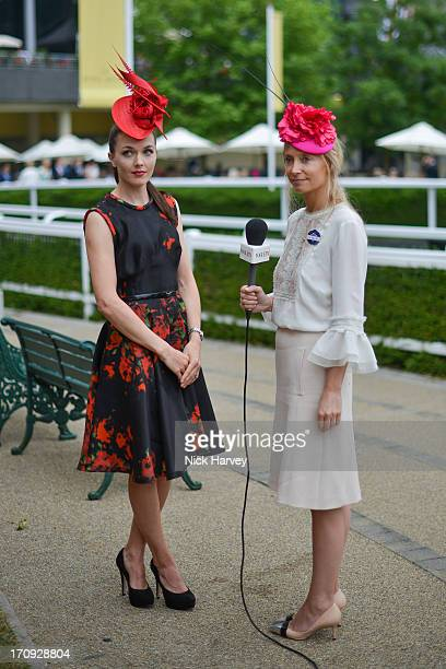 Victoria Pendleton and Martha Ward attend Ladies day on Day 3 of Royal Ascot at Ascot Racecourse on June 20 2013 in Ascot England