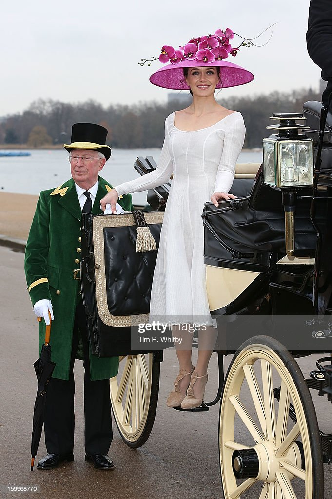 <a gi-track='captionPersonalityLinkClicked' href=/galleries/search?phrase=Victoria+Pendleton&family=editorial&specificpeople=228525 ng-click='$event.stopPropagation()'>Victoria Pendleton</a> attends a photocall to launch the Royal Ascot 2013 campaign 'The Colour and the Glory' at Hyde Park on January 24, 2013 in London, England. Victoria is wearing Emelia Wickstead and Philip Treacy.