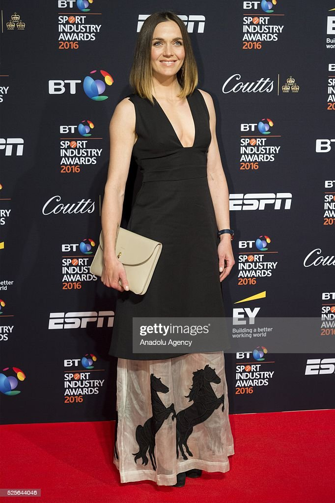 Victoria Pendleton attends the BT Sport Industry Awards 2016 in London, United Kingdom on April 28, 2016.