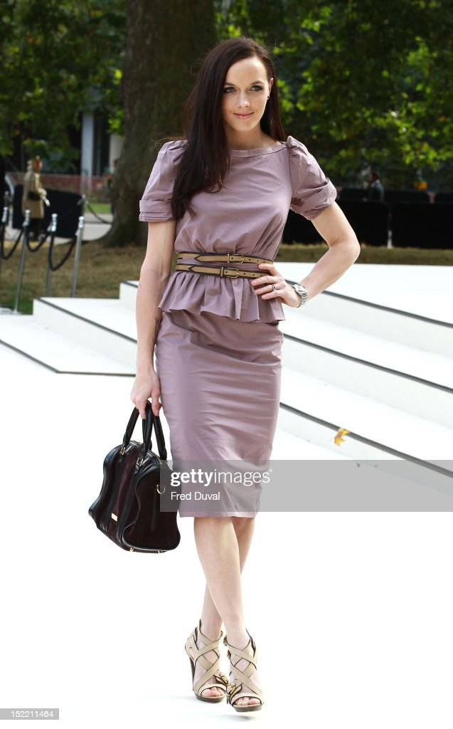 Victoria Pendleton attends the Burberry Prorsum show on day 4 of London Fashion Week Spring/Summer 2013, on September 17, 2012 in London, England.