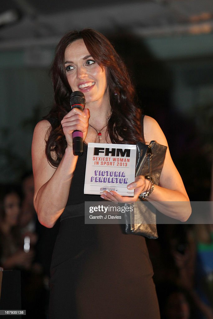Victoria Pendleton attends The FHM 100 Sexiest Women In The World 2013 Launch Party at the Sanderson Hotel on May 1, 2013 in London, England.