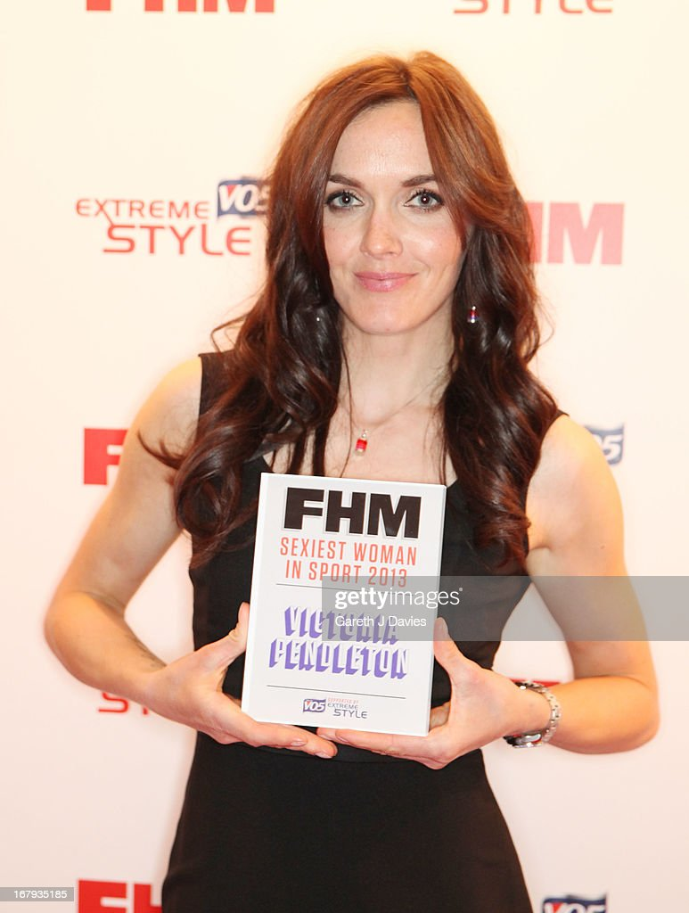 <a gi-track='captionPersonalityLinkClicked' href=/galleries/search?phrase=Victoria+Pendleton&family=editorial&specificpeople=228525 ng-click='$event.stopPropagation()'>Victoria Pendleton</a> attends The FHM 100 Sexiest Women In The World 2013 Launch Party at the Sanderson Hotel on May 1, 2013 in London, England.