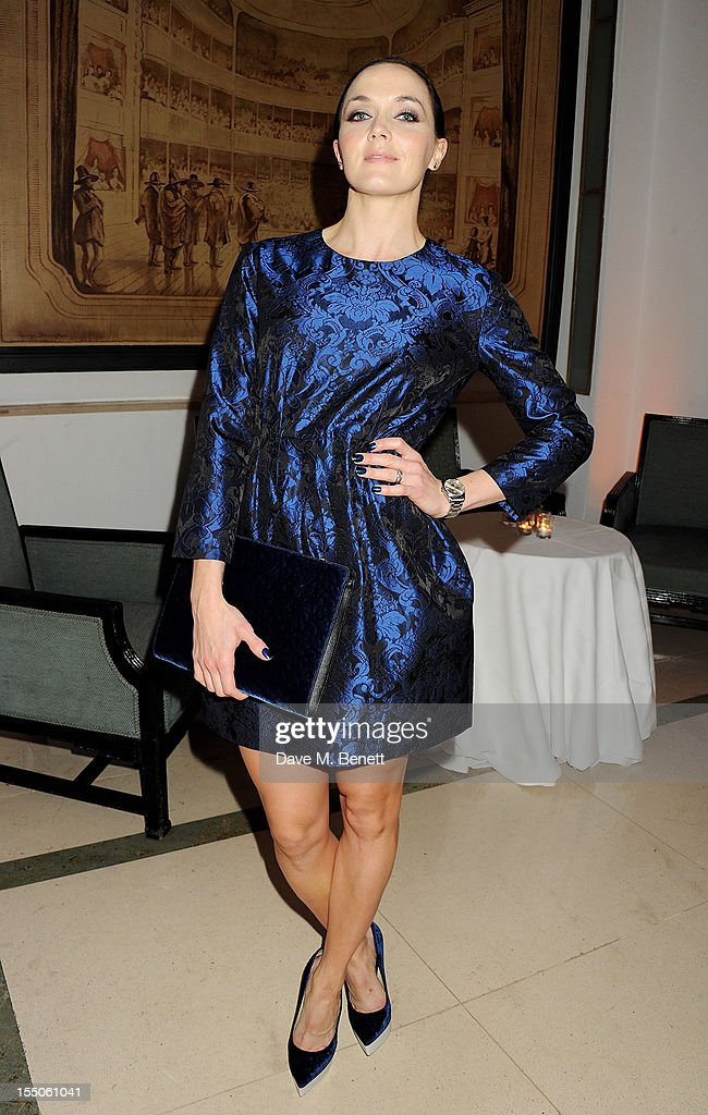 Victoria Pendleton attends the Harper's Bazaar Women of the Year Awards 2012, in association with Estee Lauder, Harrods and Tiffany & Co., at Claridge's Hotel on October 31, 2012 in London, England.