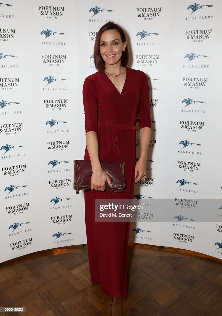 Victoria Pendleton attends the Highclere Thoroughbred Racing Royal Ascot Dinner at Fortnum & Mason on June 15, 2017 in London, England.
