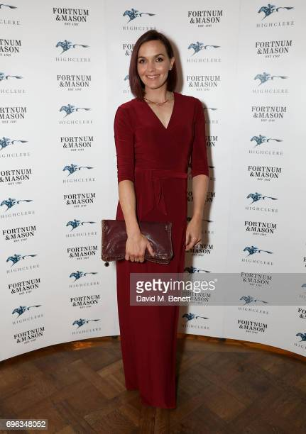 Victoria Pendleton attends the Highclere Thoroughbred Racing Royal Ascot Dinner at Fortnum Mason on June 15 2017 in London England
