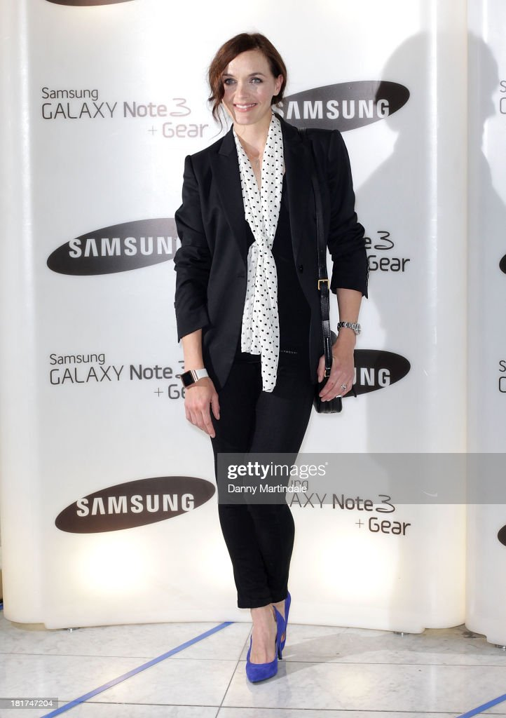 Victoria Pendleton attends the launch of Samsung's Galaxy Gear and Galaxy Note 3 at ME Hotel on September 24 2013 in London England